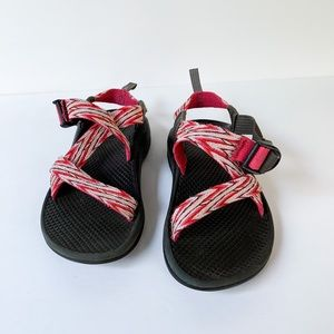 Girls Pink Striped Chaco Sandals size 2